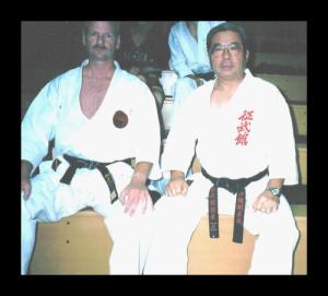 Henk en Minei sensei, Okinawa, Japan.