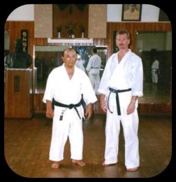 Eiíchi Miyazato sensei, 1997, JundoKan dojo, Okinawa, Japan.