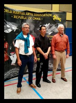 Pieter Harms, Belgie, Henk, en Samuel Kwok, Hong Kong.