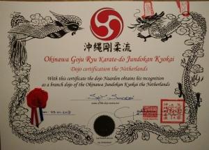 Dojo certification dojo Naarden Sait